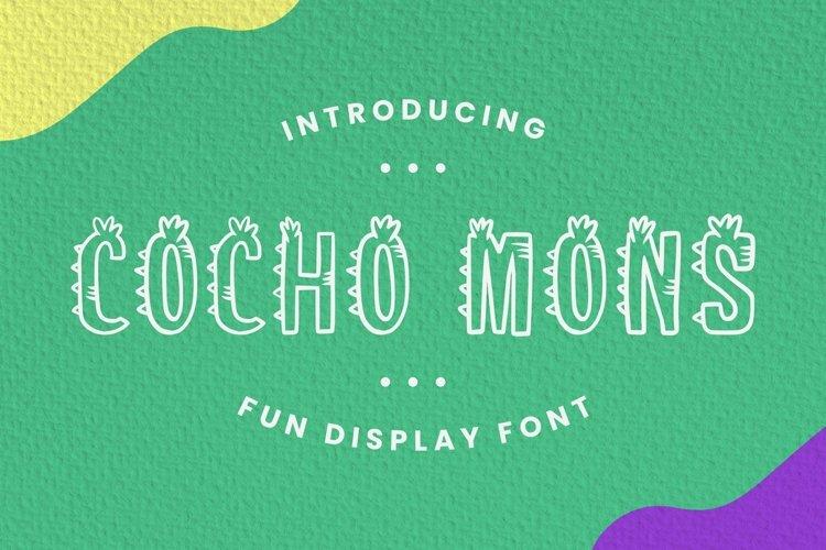 Web Font Cocho Mons Font example image 1