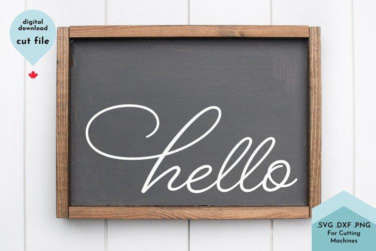 Hello SVG, cursive svg, Welcome sign svg