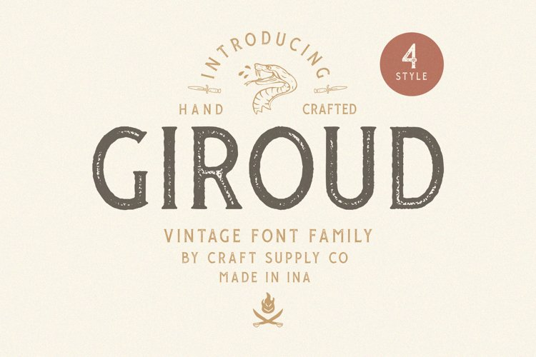 Giroud Vintage Font Family Bonus Logo example image 1