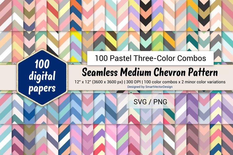 Seamless Medium Chevron Paper-100 Pastel Three-Color Combos example image 1