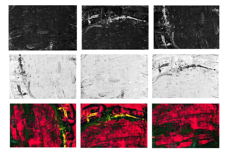 Set of 9 images. Abstract art background. Acrylic painting example image 1