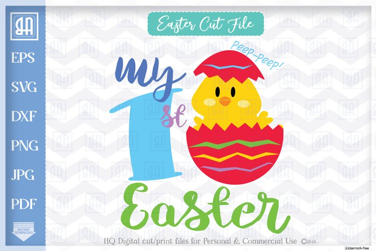 13+ My First Easter Cut File DXF