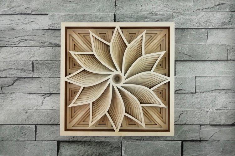 Layered Mandala SVG, Laser cut file Mandala, 3D Flower