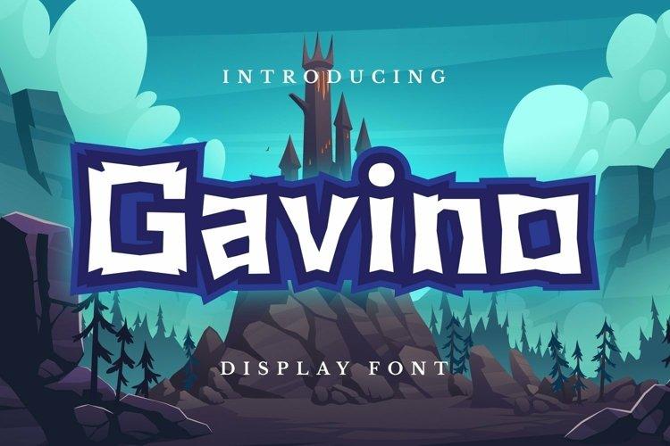Web Font Gavino Font example image 1