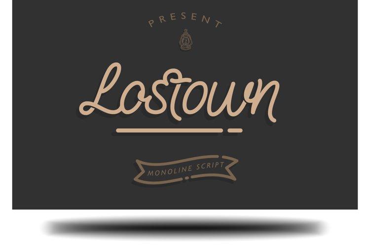 Lostown Monoline Script example image 1