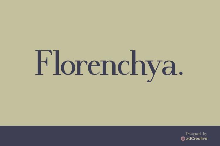 Florenchya - Serif Font