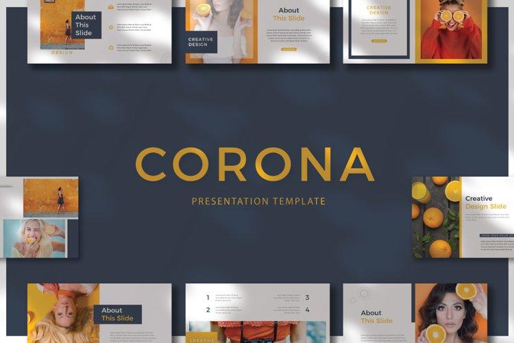 CORONA - Powerpoint example image 1