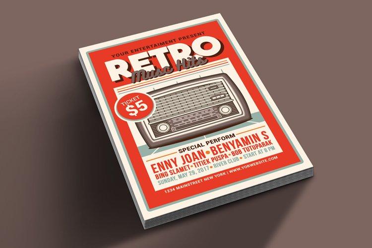 Retro Music Hits Flyer example image 1
