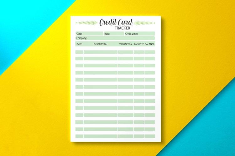 Credit Card Tracker, KDP INTERIOR example image 1