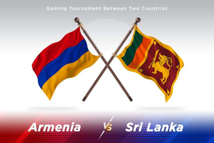 Armenia versus Sri Lanka Two Flags example image 1