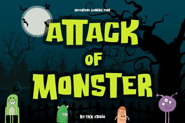 Attack of Monster - Horror Gaming font example image 1