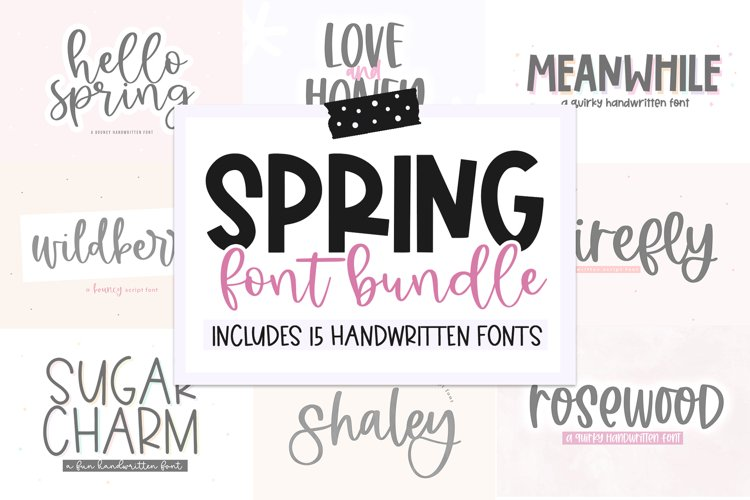 Spring Font Bundle - Fonts for Crafters example image 1
