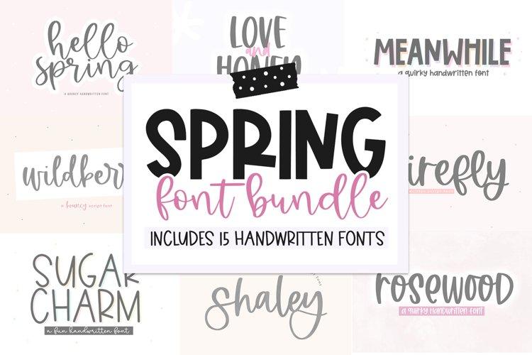 Spring Font Bundle - Fonts for Crafters