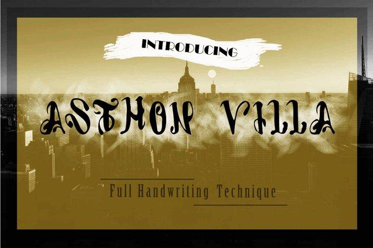 Asthon Villa Font example image 1