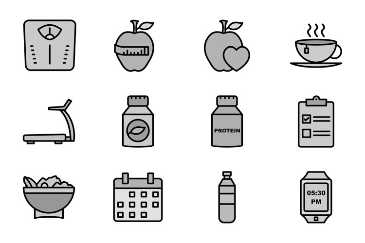 Set Of Fitness And Health Icons example image 1