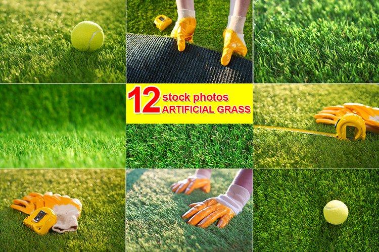 12 x Artificial Grass Stock Photos example image 1