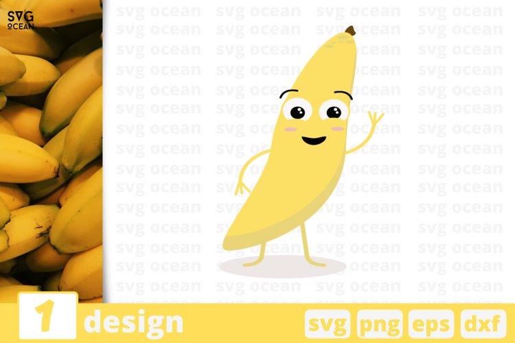 FUNNY BANANA FACE SVG, fruits svg, fruit clipart, banana svg example image 1
