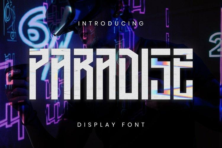 Web Font Paradise Font example image 1