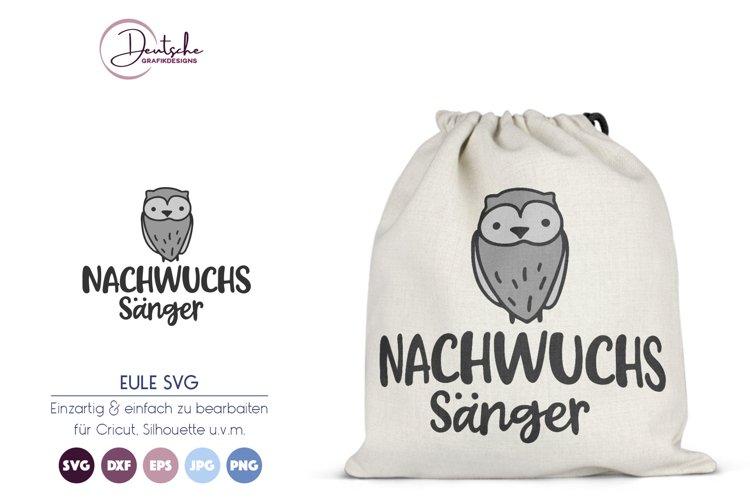 Nachwuchs Sänger SVG | Eule SVG example image 1