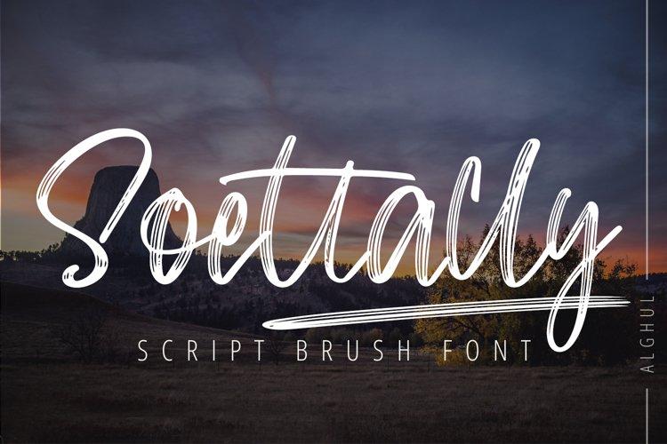 Soettally - Script Brush Font example image 1