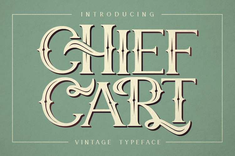 Chief Cart Vintage Typeface example image 1