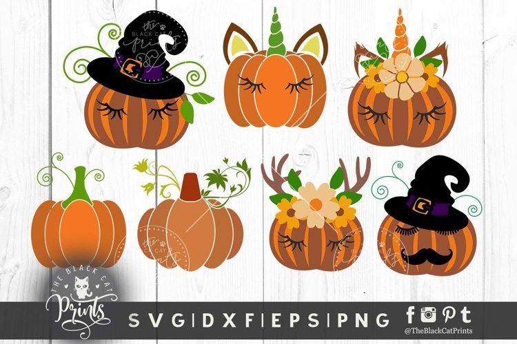 Pumpkin clipart bundle SVG DXF EPS PNG Halloween cut files