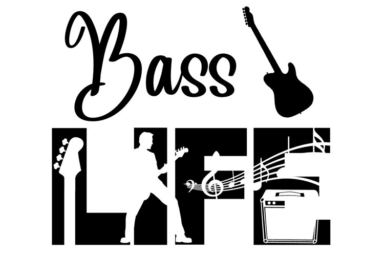 Bass Life SVG Cutting File for the Cricut