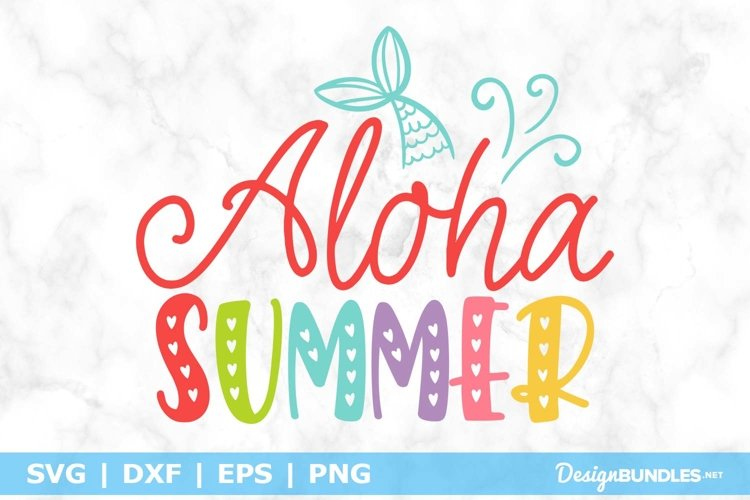 Aloha Summer SVG File example image 1