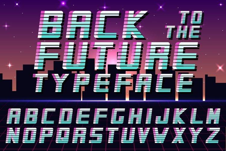 Futuristic english alphabet - 80-90s example image 1