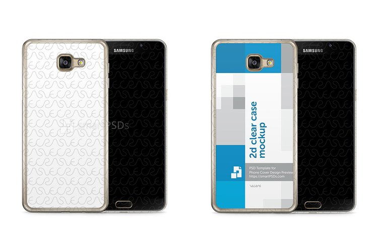 Samsung Galaxy A5 2016 2d Clear Mobile Case Mockup 2016 example image 1