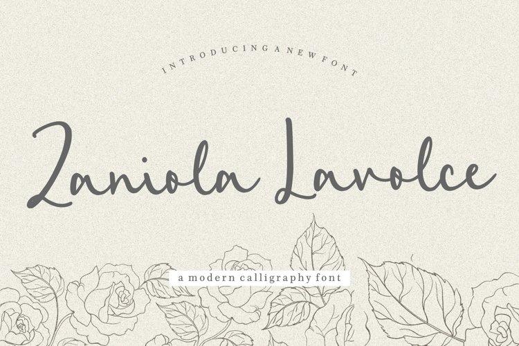 Zaniola Lavolce Modern Callihgraphy Font example image 1