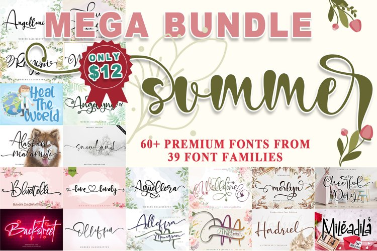 SUMMER MEGA BUNDLE- WEB FONT