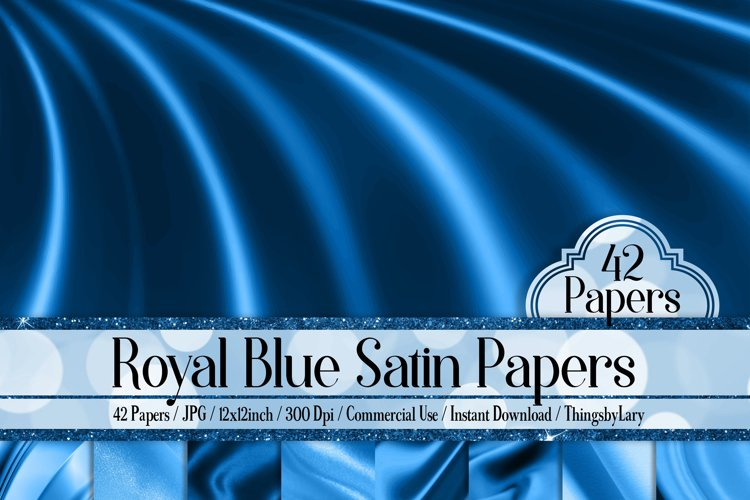 42 Royal Blue Luxury Silk Satin Cloth Papers example image 1
