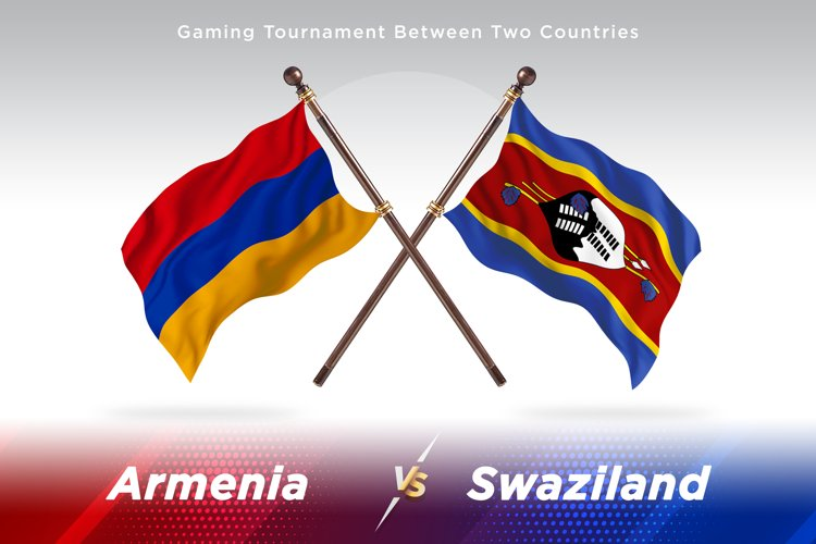 Armenia versus Swaziland Two Flags example image 1