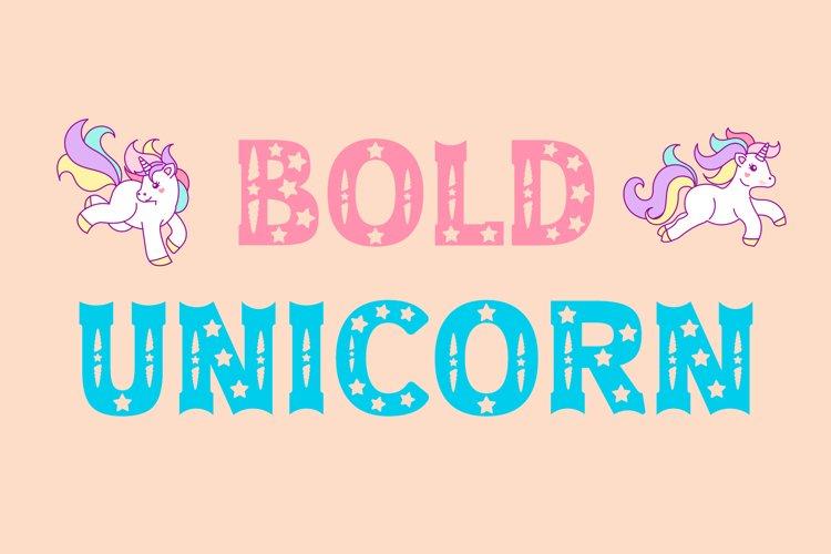 Bold Unicorn Font example image 1