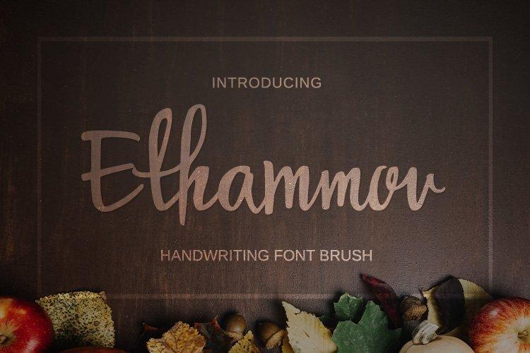 Web Font Ethammov Brush example image 1