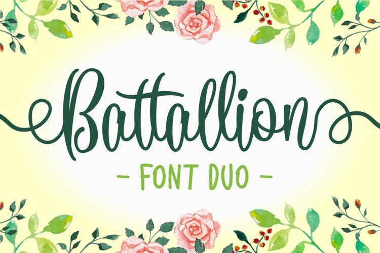 Battallion Font Duo - 70% OFF
