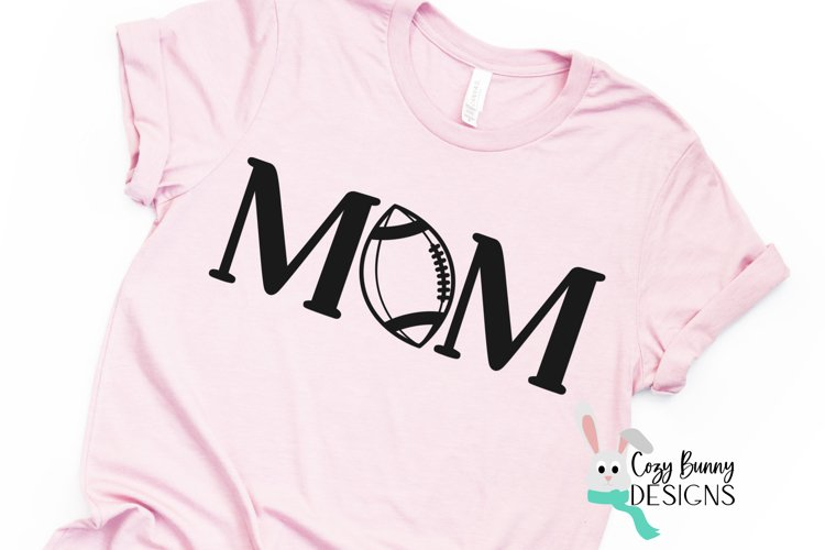 Football Mom SVG, Football Clipart, Mother's Day Football example image 1