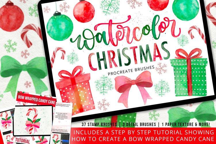 Watercolor Christmas Stamp Brush Set