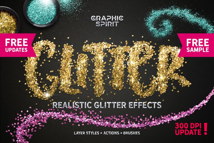 Realistic Glitter Effect TOOLKIT example image 1