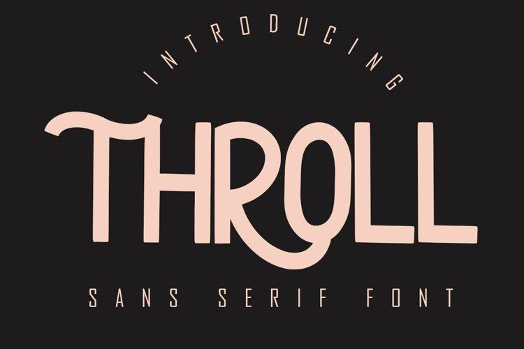 THROLL Modern Sans Serif example image 1