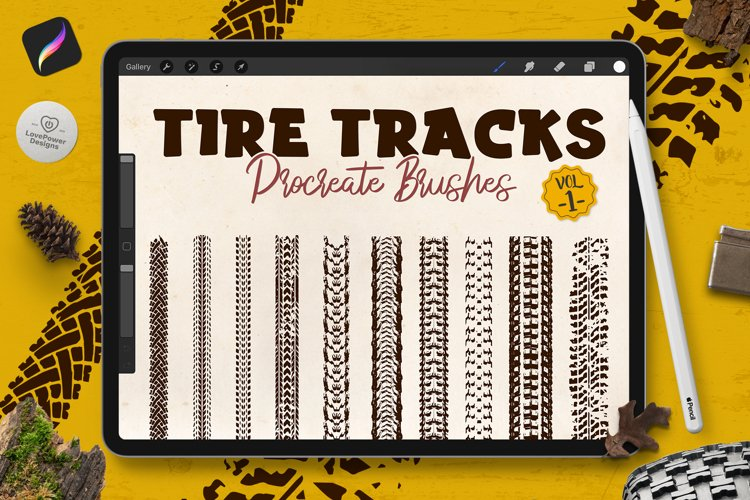 Procreate Brushes   Tire Track Brushes for Procreate Vol1