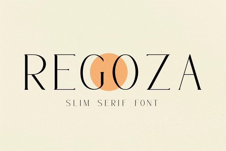 Regoza -Typeface Slim Font example image 1