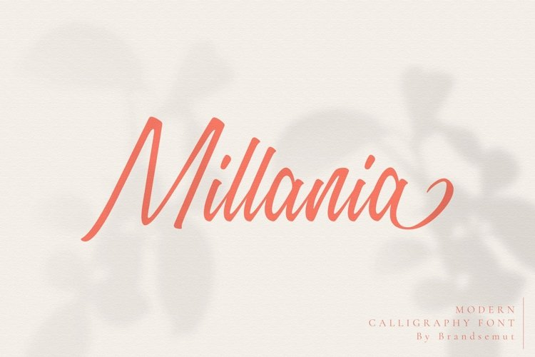 Millania || Modern Script Font example image 1