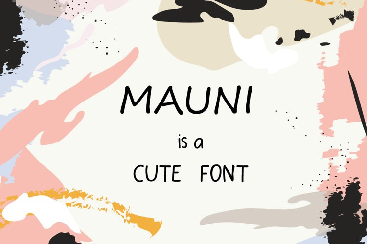 MAUNI Simple Handwritten WEB Font