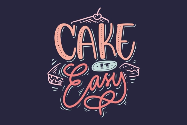 Cake It Easy Lettering example image 1