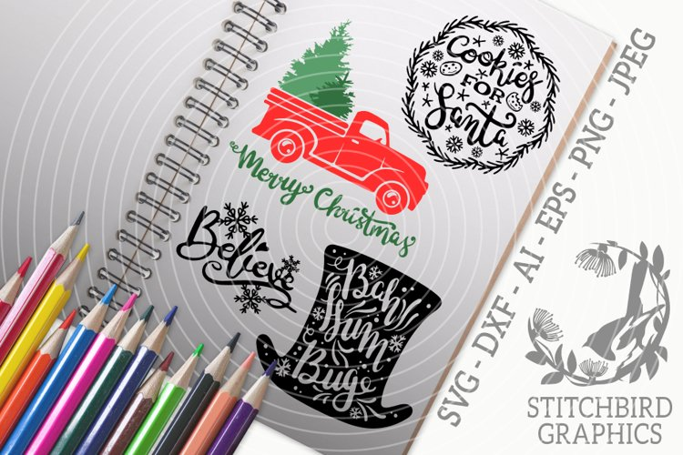 Christmas Quotes 2 Bundle SVG, Silhouette Studio, Cricut