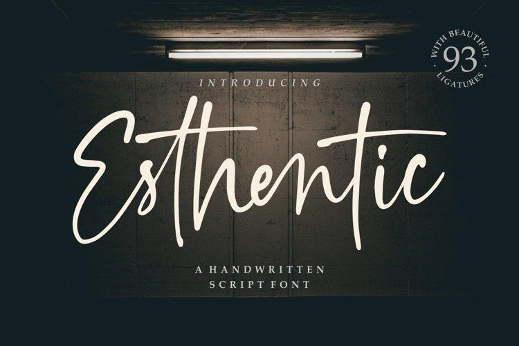 Esthentic a Handwritten Script Font example image 1
