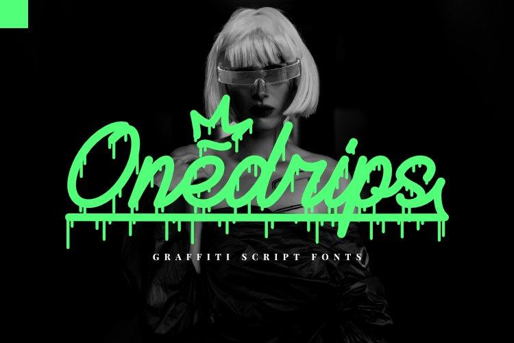 Onedrips - Graffiti Script Fonts