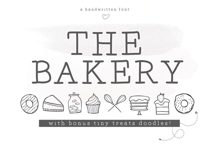 The Bakery - Handwritten Serif and Doodle Font example image 1